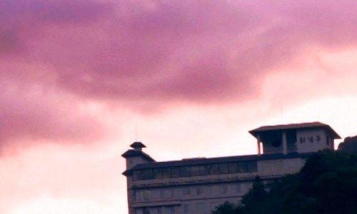 層雲峡 朝陽亭
