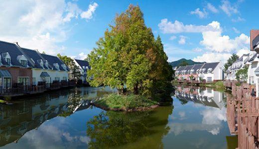 湖に囲まれたレイクアイランドヴィラに滞在!2日分のパスポート付!ハウステンボス フォレストヴィラ宿泊プラン